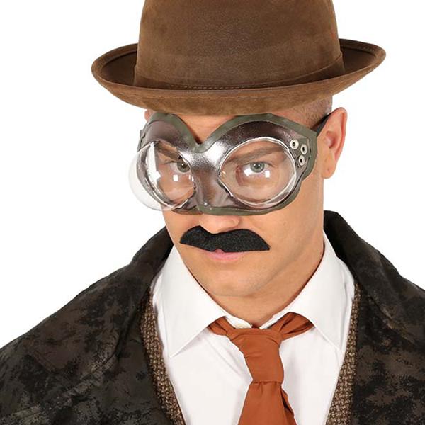 Óculos SteamPunk Redondos Metalizados