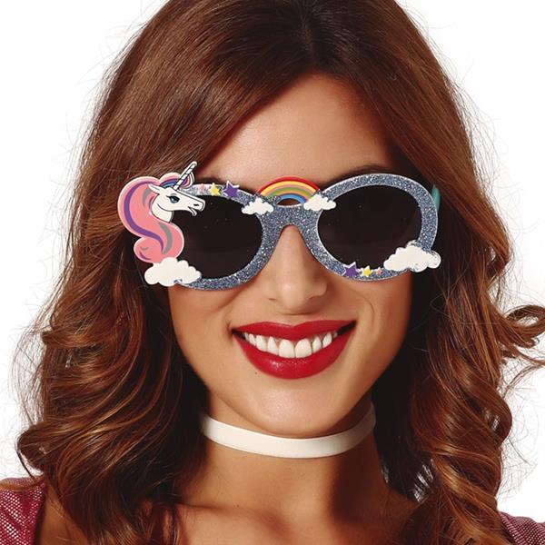 Óculos Unicórnio com Glitter