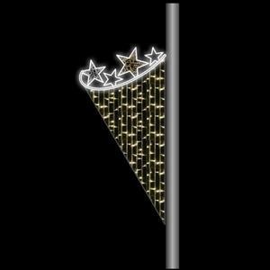 Painel Decorativo Exterior Luminoso com Estrelas Branco Quente