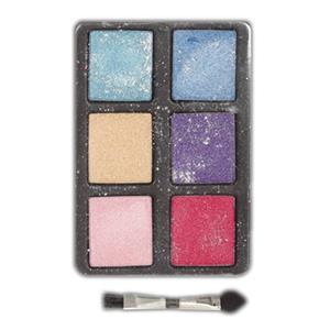 Palete 6 Cores Glitter com Pincel