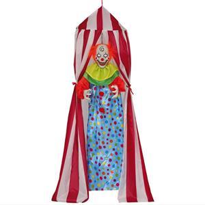 Palhaço Assustador na Tenda com Luz e Som, 1,90 mt