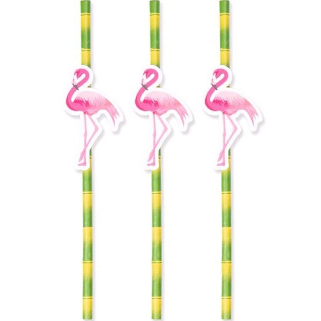 Palhinhas às Riscas Flamingos, 8 unid.