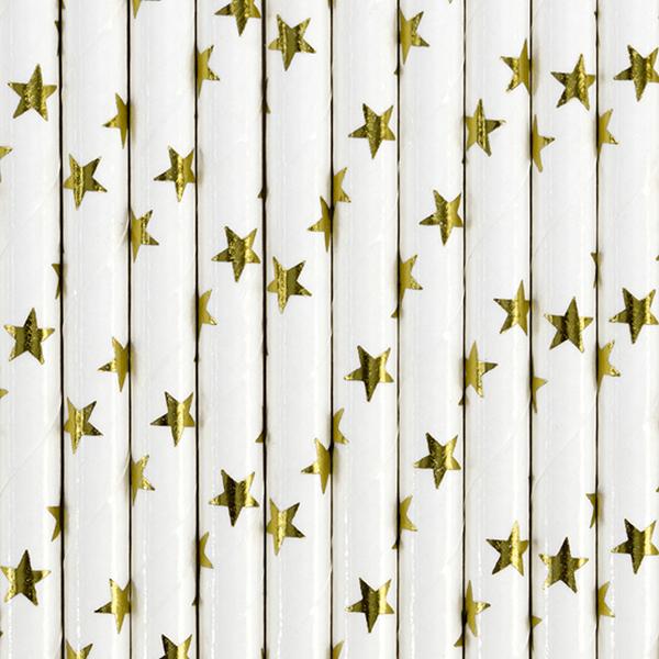 Palhinhas Estrelas Douradas, 10 unid.