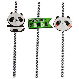 Palhinhas Panda Risonho, 12 unid.