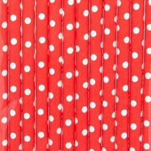 Palhinhas Vermelhas às Bolinhas, 12 unid.