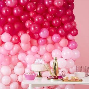 Parede com 210 Balões Rosa