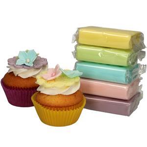 Pastas de Açúcar Multicolor Pastel, 500 gr
