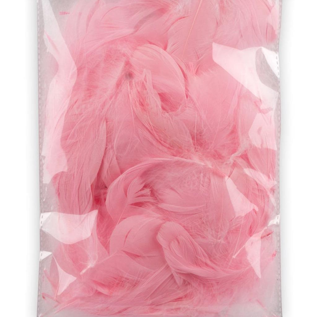 Penas Rosa Decorativas, 10 gr.