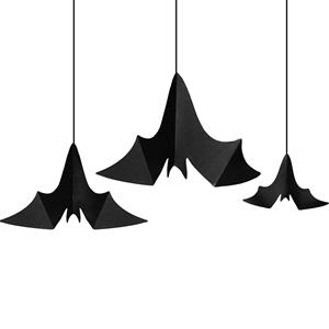 Pêndulo Morcegos em Preto, 3un