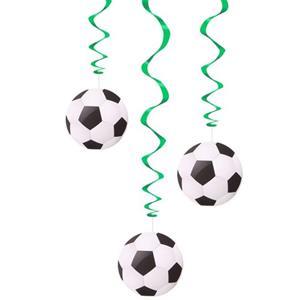 Pêndulos Espirais Futebol, 3 unid.