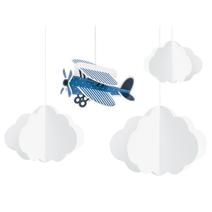 Pêndulos Nuvens e Avião, 4 Unid.