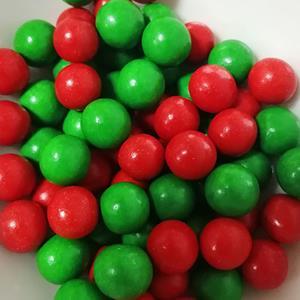 Pérolas Mix Vermelho e Verde, 65 gr
