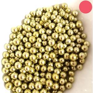 Pérolas Ouro Metalizado, 75 gr