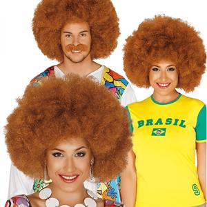 Peruca Castanha Afro
