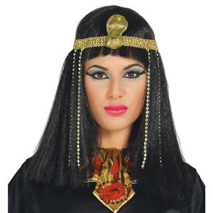Peruca Cleópatra com Tiara