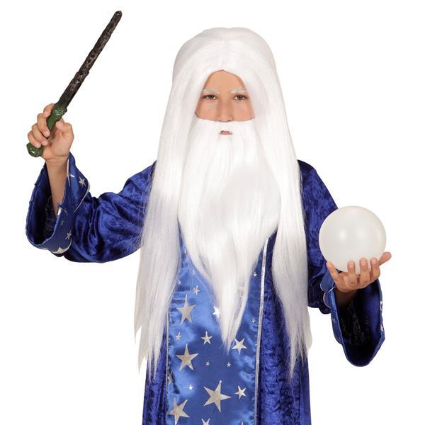 Peruca e Barba de Mago Merlin, Criança