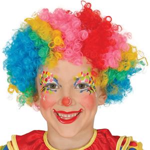 Peruca Palhaço Multicolor, Criança