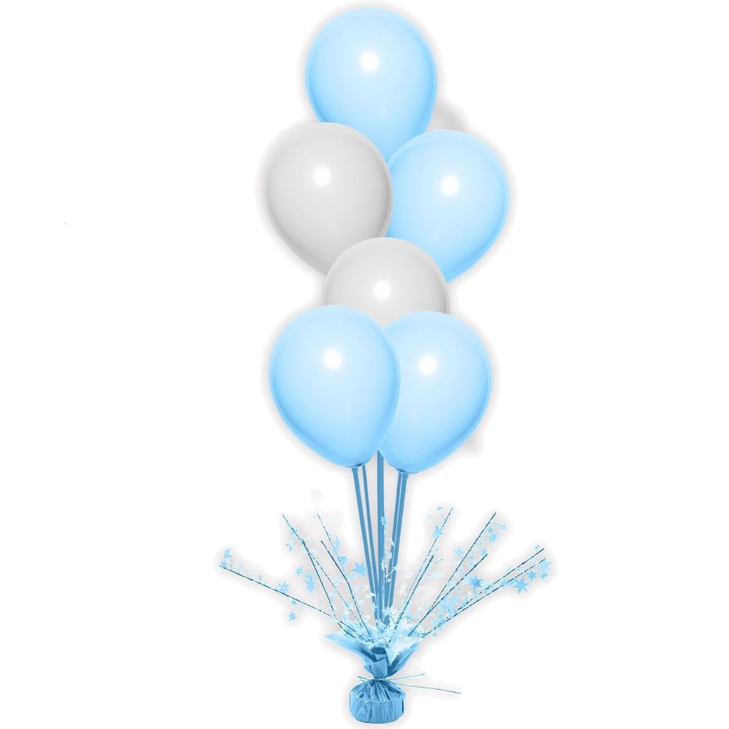 Peso Balões Azul com Estrelas e Varetas