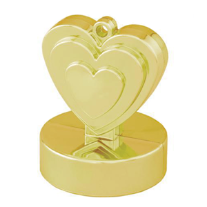 Peso Balões Coração Dourado