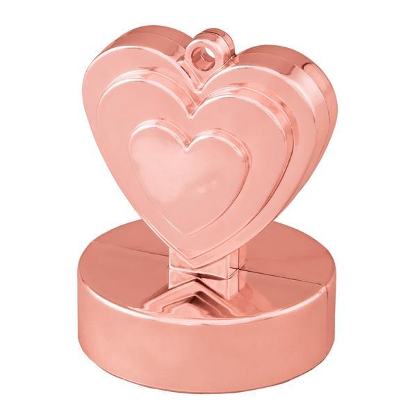 Peso Balões Coração Rosa Gold