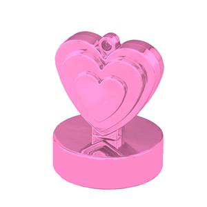 Peso Balões Coração Rosa Pérola