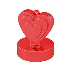 Peso Balões Coração Vermelho