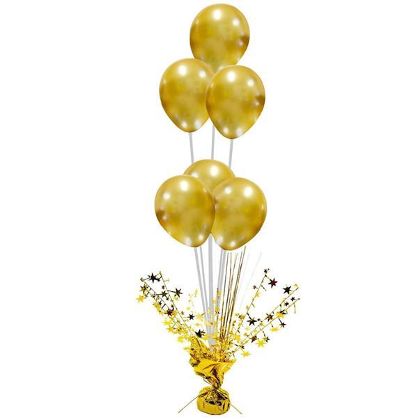 Peso Balões Dourado com Estrelas e Varetas