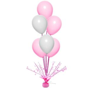 Peso Balões Rosa com Estrelas e Varetas