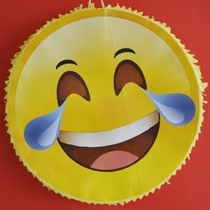 Pinhata Emoji Chorar a Rir