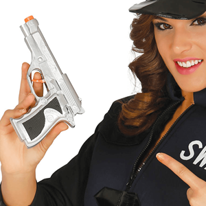 Pistola Prateada, 22 cm
