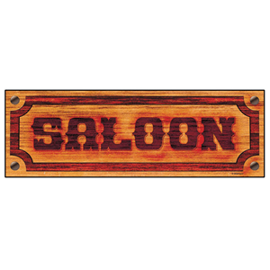 Placa SALOON