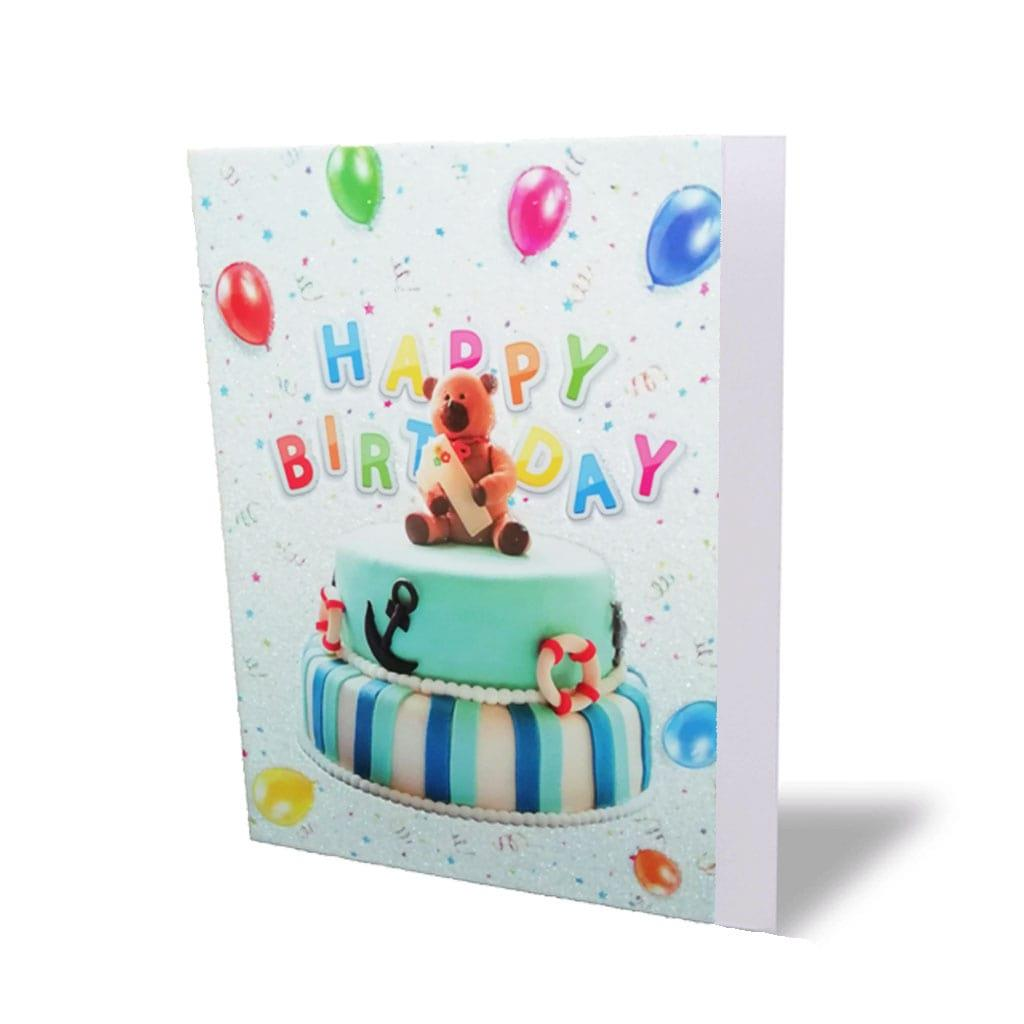 Postal Happy Birthday Urso