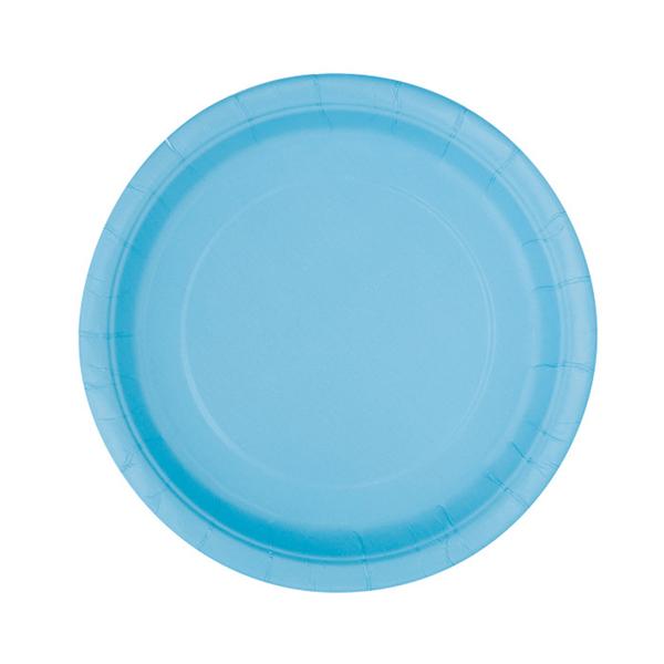 Pratos Azul Claro 17 Cm, 20 Unid.
