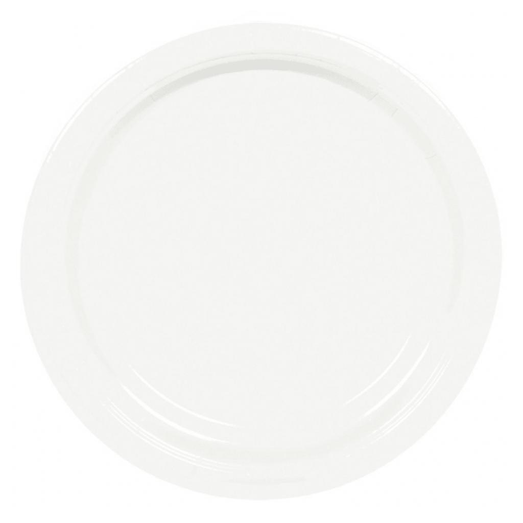 Pratos Brancos 22 Cm, 8 Unid.