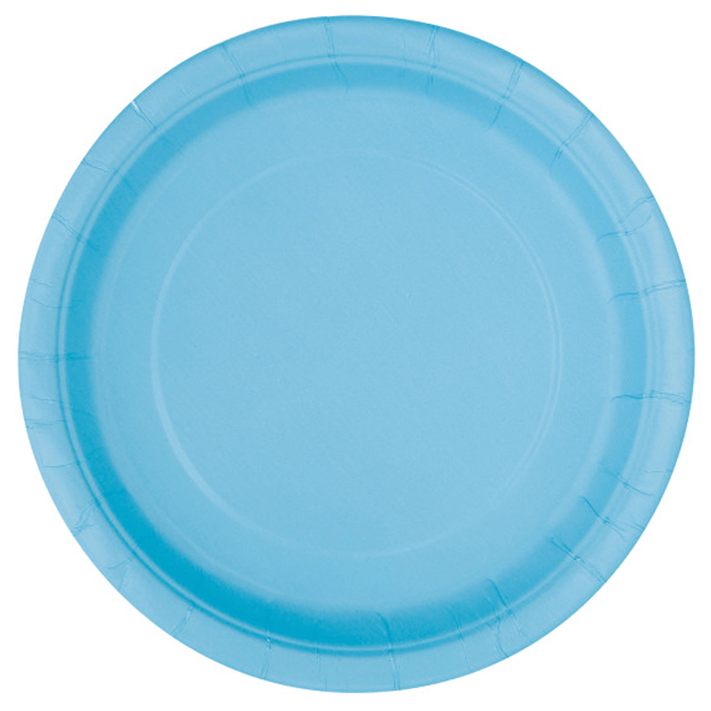 Pratos Azul Claro 22 Cm, 16 Unid.