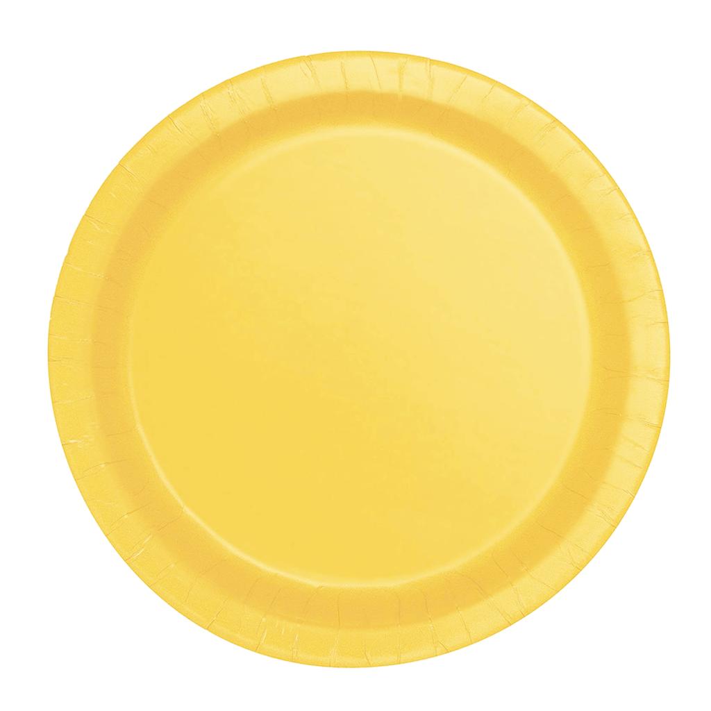 Prato Papel Peq. Amarelo, 20 Unid.