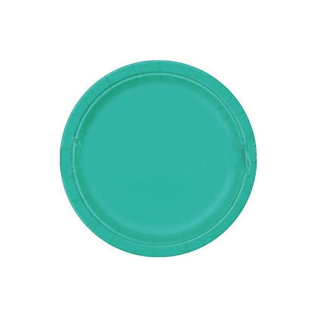 Pratos Azul Turquesa 17 Cm, 20 Unid.