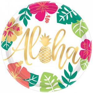 Pratos Aloha, 26 cm, 8 unid.