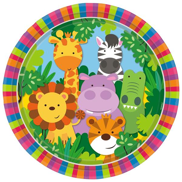 Pratos Animais da Selva, 8 Unid.