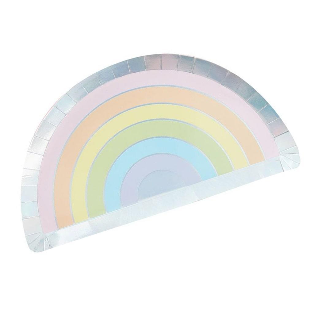 Pratos Arco Íris Pastel 28 Cm, 8 Unid.