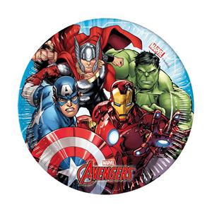 Pratos Avengers, 8 Unid.