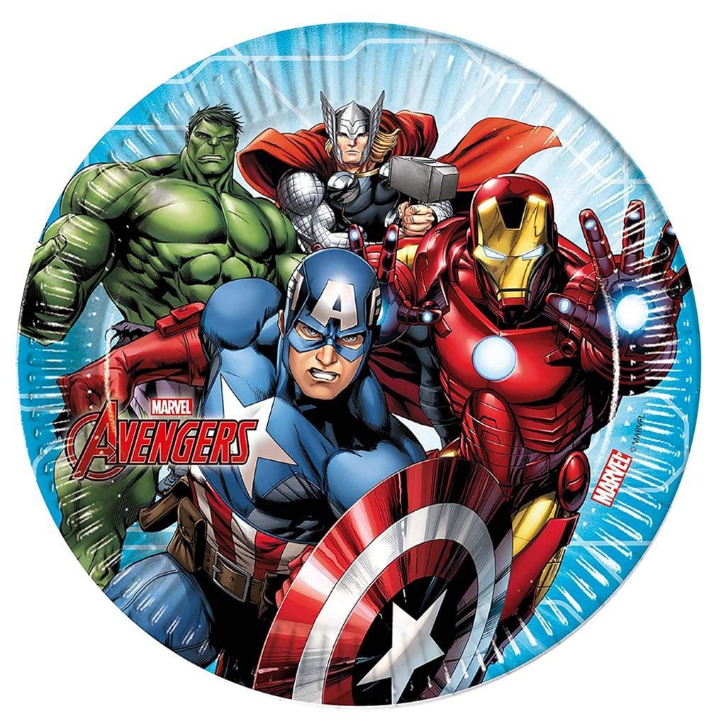 Pratos Avengers Marvel, 23 cm, 8 unid.