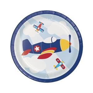 Pratos Avião a Voar, 18 cm, 8 unid.