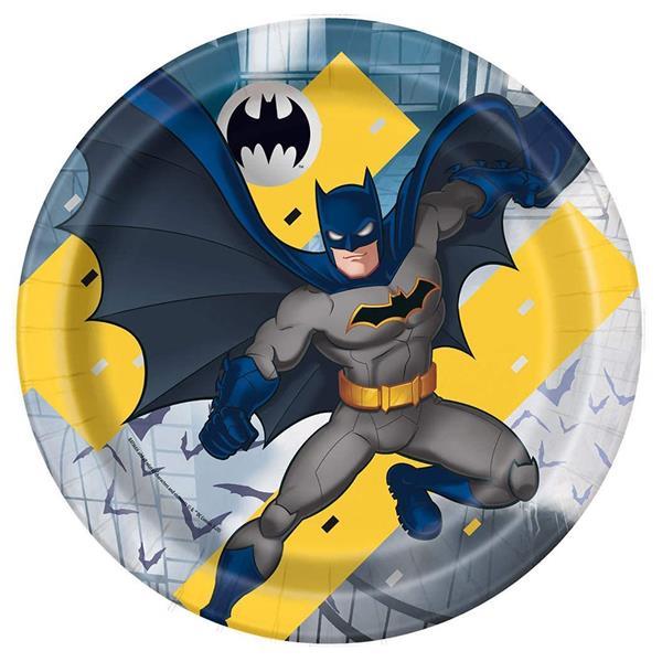Pratos Batman, 22 cm, 8 unid.