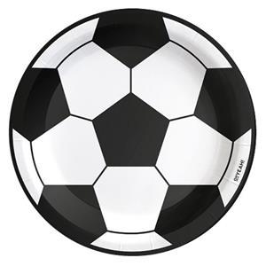 Pratos Bola de Futebol, 23 cm, 6 unid.