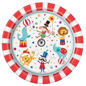 Pratos Circo, 22 cm, 8 unid.