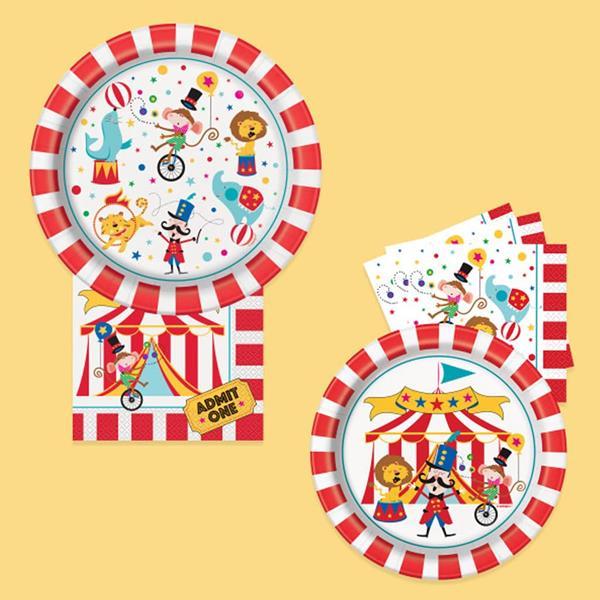 Pratos Circo, 17 cm, 8 unid.