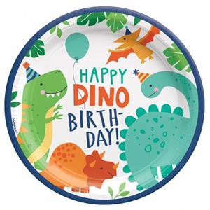 Pratos Dinossauros Party, 23 cm, 8 unid.