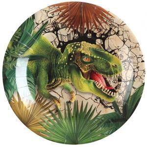 Pratos Dinossauros T-Rex, 22 cm, 10 unid.