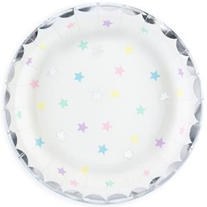 Pratos Estrelas Pastel, 17 cm, 6 unid.